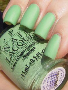 NEED THIS. OPI Gargantuan Green Grape Matte nail polish.