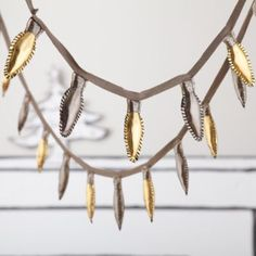 Holiday Lights Garland (Gold and Silver)  | The Land of Nod