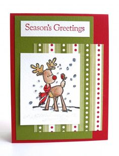 Season's Greetings from Rudolph by Luv Flowers - Cards and Paper Crafts at Splitcoaststampers