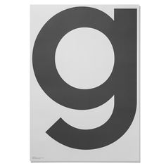 This poster is from the Grey collection by Playtype. It is printed in Pantone colors on 120g paper.
