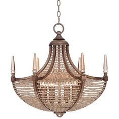 """Ospur 22"""" Wide Clear Beaded Chandelier -"""