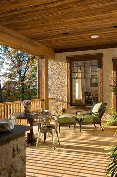 rustic veranda porch decorating ideas balcony railings
