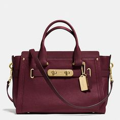 Coach Swagger Carryall in Nubuck Pebble Leather