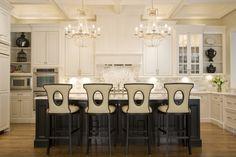 Traditional U-shaped kitchen, white cabinets, Mel Bean, Austin Bean Design Studio, Other
