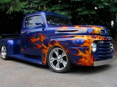 Hot Rod with flames p - got to have the flames
