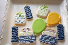 Sooner Sugar Cookies https://www.facebook.com/soonersugar Birthday cookies, candle cookies, cake cookies, balloon cookies