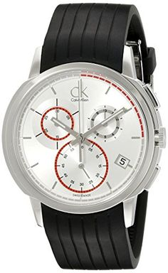 7e2f0b18bc3 Calvin Klein Men s Drive Stainless Steel Watch with Black Rubber Band   Calvin Klein Men s Drive Stainless Steel Watch with Black Rubber Band