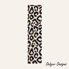 Snow Leopard - Loom Bracelet Cuff Pattern (SAVING buy 2 - 3rd free )