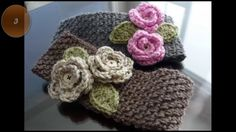 Diademas o vinchas de ganchillo con patrones. Crochet headbands or earwa...