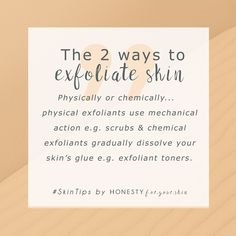 Exfoliation: Did you know… It's the key to that dewy glowing skin look? It's also one of the keys to fighting spots, acne and pimples. In the world of skincare there's 2 ways you can exfoliate. Physically or chemically with ingredients like salicylic acid. Click to read more.