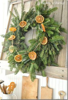 Holiday Kitchen Wreath Oranges Ideas