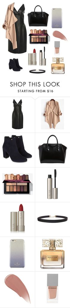 """Leather Dress Outfit #2"" by jessicaiskoolio ❤ liked on Polyvore featuring Loewe, Monsoon, Givenchy, Ilia, Humble Chic, Kate Spade and Burberry"