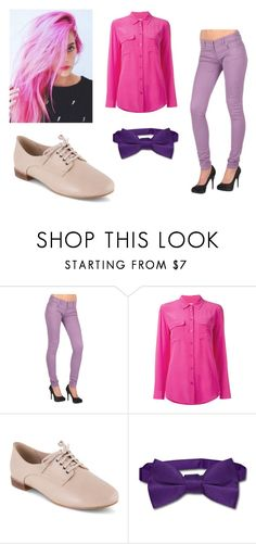 """""""Prince Gumball"""" by juju-mari-pie on Polyvore featuring Tripp, Equipment, Clarks and Napoli"""