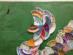 Pattern review - dragon scales.  Great group/class project!