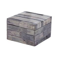 Multi Gray and White Bone Boxes - Small