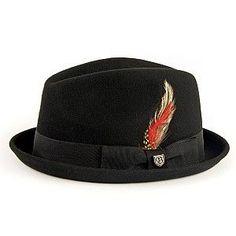 Brixton Hats Gain Trilby Hat - Black 3d8f328d16e7