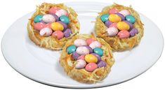 Birds Nest Cookies Prep Time: 25 min. Bake Time: 12-14 min. Decoration Time: 10 min. Ingredients 1 bag of M&M'S® Brand Speckled Peanut Butter Chocolate Eggs 1 cup (2 sticks) butter or margarine, softened ½ cup granulated sugar 1 large egg ½ tsp...