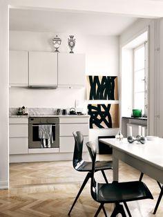 Artful and creative home of a fashion designer
