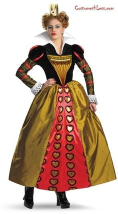 Alice In Wonderland Movie Deluxe Red Queen Adult Costume at Costumes4Less.com