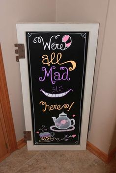 Alice in Wonderland birthday party decoration! See more party planning ideas at… Mad Hatter Party, Mad Hatter Tea, Mad Hatters, Mad Hatter Birthday Party, Birthday Party Decorations, Birthday Parties, Disney Party Decorations, Birthday Ideas, Tea Parties