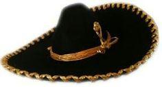 Sombrero  charro con lazo dorado