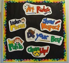 Simple and well said classroom expectations for the elementary art room