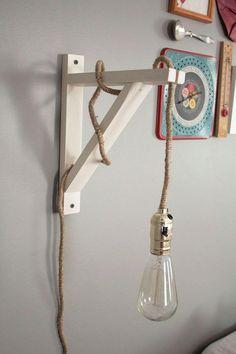 lampes de chevet, lampe baladeuse support bois