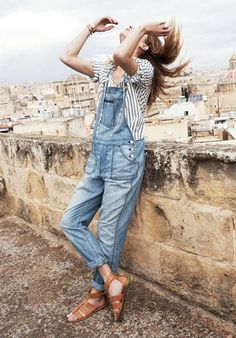 overalls + stripes // relaxed + easy