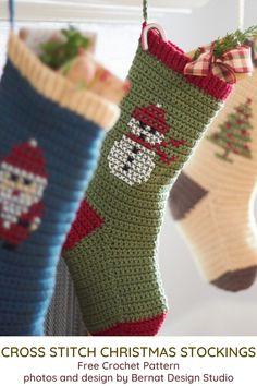 Handmade Brown Tan Damask Christmas Stocking with Polka Dot Top and Beaded Trim