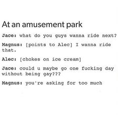 Jace and Malec 😂 Immortal Instruments, Mortal Instruments Books, Shadowhunters The Mortal Instruments, Serie Marvel, Jace Lightwood, Nos4a2, Magnus And Alec, Cassie Clare, Shadowhunters Tv Show