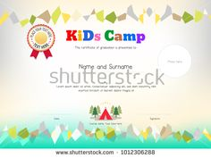 13 best kids images in 2019 certificate templates camping with rh pinterest com