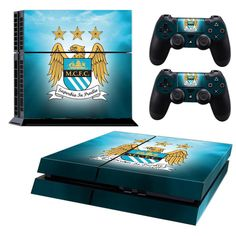 MANCHESTER CITY Playstation 4 PS4 Skin Decal Sticker Cover Playstation 4 Custom Made