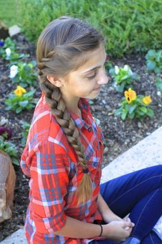 French Twist into Side Braid