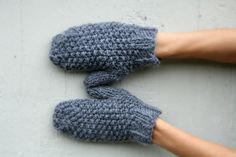 Wool Mittens - Handmade in Italy