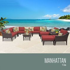 TKC Manhattan 13 Piece Outdoor Wicker Patio Furniture Set >>> Details can be found by clicking on the image.