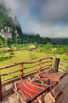 The view from our balcony at the Cliff & River Jungle Resort in Khao Sok National Park in Thailand. What a wonderful place to stay.
