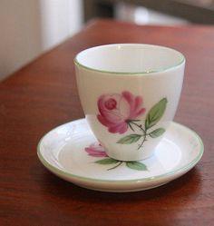 Orig. Augarten Porzellan Eierbecher, Wiener Rose #eggcup
