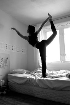 I have such bad balance, this pose can be hard for me some days. Couldn't imagine trying to do it on a mattress! haha