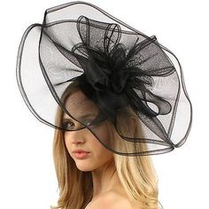 88657db51bd2b Fascinators and Headpieces 168998  Big Sinamay And Organza Fascinators  Headband Millinery Cocktail Derby Hat -