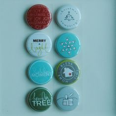 this christmas V1 badge buttons