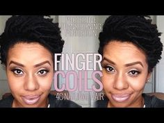 How to Finger Coil on 4C Natural Hair | Transitioning Hairstyle w/ Entwine Couture
