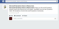 Microsoft Dynamics News & Resources on Facebook