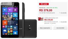 """Smartphone Microsoft Lumia 535 Dual Chip Tela 5"""" 8GB 3G Wi-Fi Câmera 5MP << R$ 37900 em 10 vezes >>"""