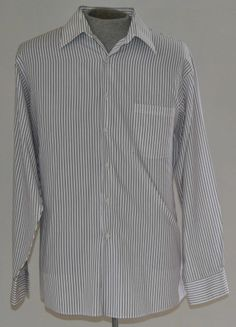 Men's Size X-Large Van Heusen Dress Shirt 60% Cotton 40% Polyester Long Sleeve  #Fashion #Style #Deal