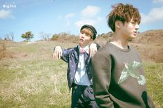 J- Hope and Jungkook ❤ YoungForever photo shoot (in the making) #방탄소년단 #BTS