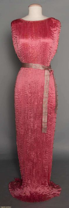 Fortuny Delphos Gown & Box, 1910-1920, Augusta Auctions, November 12, 2014, Lot 293