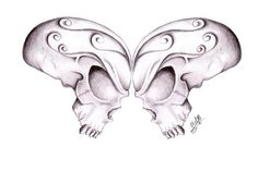 I am not the biggest fan of butterflies however because it is two skull...... I really like this!!!