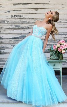 Beads Sweetheart Sherri Hill 11186 Ball Gown 2015