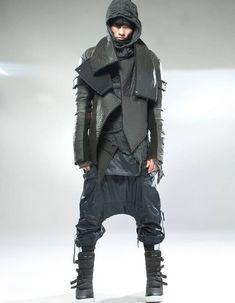 Shop for Dusty Mission Matte Nylon Jacket at ShopStyle. Mode Cyberpunk, Cyberpunk Fashion, Dark Fashion, Urban Fashion, Mens Fashion, Street Fashion, Military Inspired Fashion, British Asian, Concept Clothing