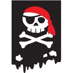 Silhouette Design Store - View Design #29897: rectangle pirate banner